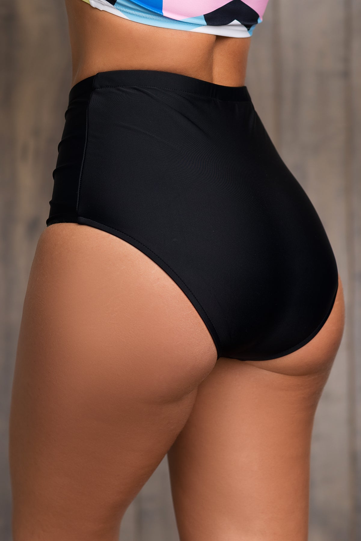 Fiesta Beach -High Waisted  Bottom Black