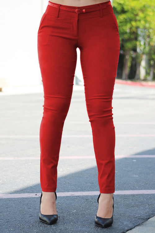Get Down To Business Pants RED - RESTOCKED - Fashion Effect Store  - 1