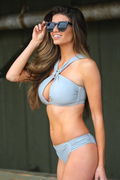 Bella Light Gray Swimsuit - Fashion Effect Store  - 2