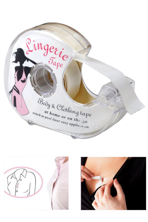 44e28740252 Double Sided Adhesive Lingerie Tape Body Clothing Clear Bra Strip