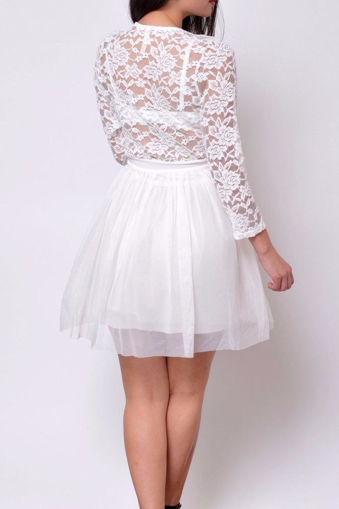 Audrey Lace Dress White - Fashion Effect Store  - 2