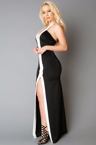 Black and White Affair Dress - Fashion Effect Store  - 2