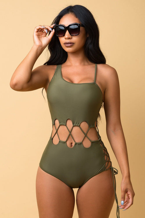 Bottom Bay One Piece Olive Swimsuit
