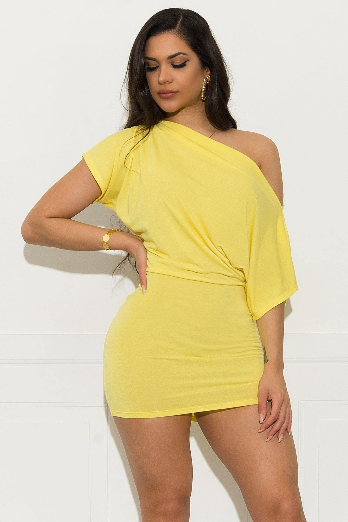 Adrianne Dress - Yellow