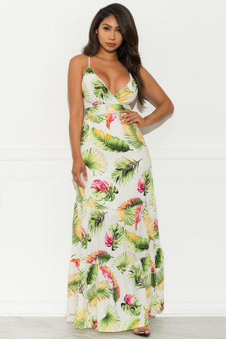Ciara Floral  Maxi Dress - Yellow