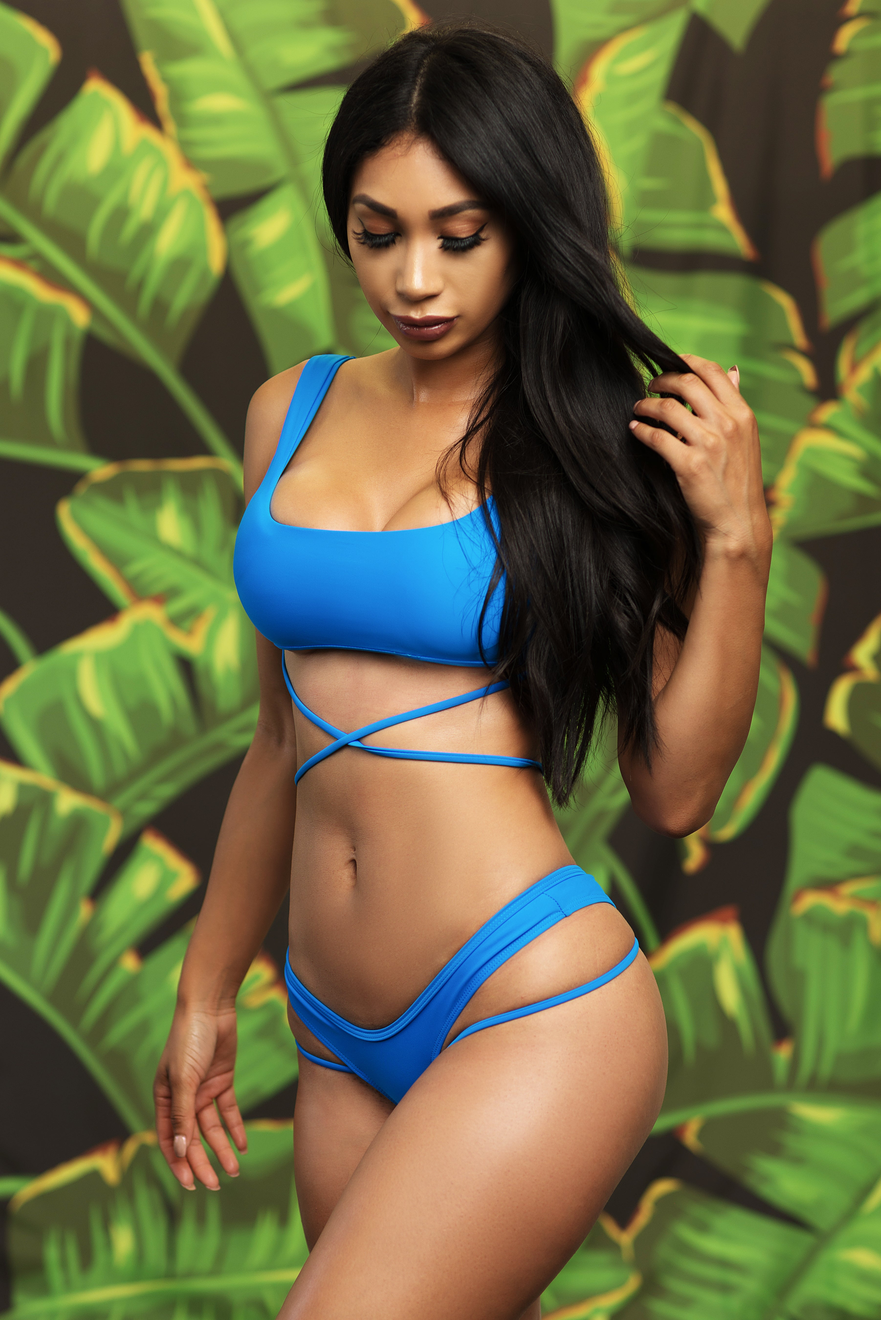 Baia Beach Two Piece Swimsuit - Blue