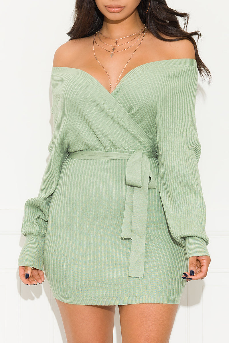 One Call Away Dress Mint