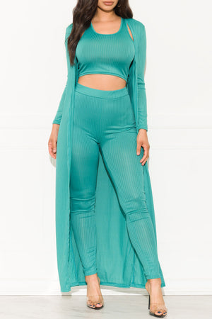 Main Attraction Three Piece Set Teal