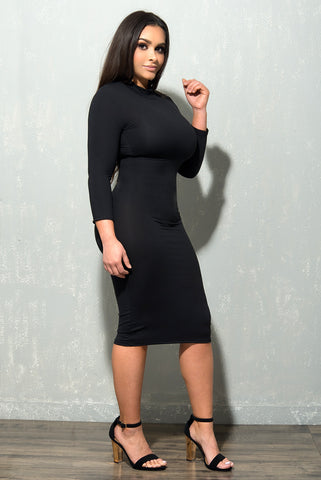 Isabella Black Dress - Fashion Effect Store  - 1