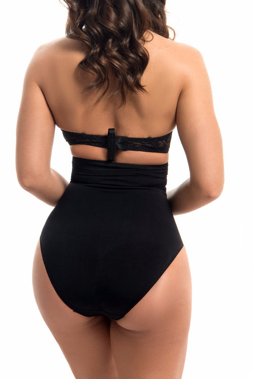 Seamless High Waisted Body Shaper BLACK -RESTOCKED - Fashion Effect Store  - 2