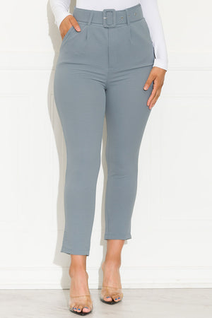 Crushing On You Pants Dusty Blue