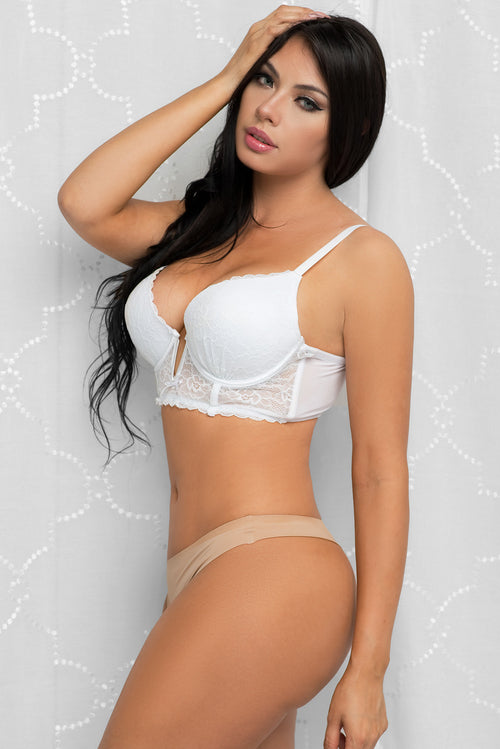 Push Up Lace Bra White
