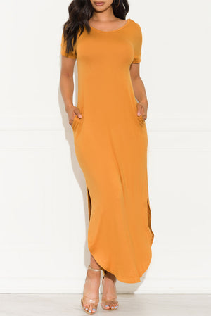 Always Wanted Maxi Dress Mustard
