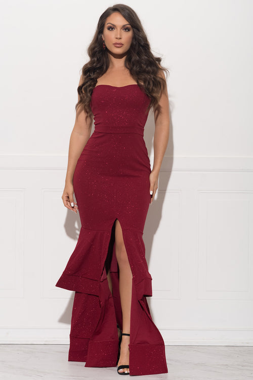 Ysabella Dress - Burgundy