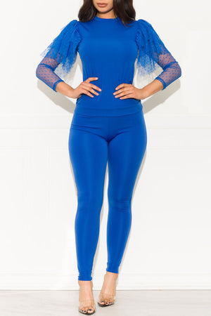 Loosen Up Two Piece Set Royal Blue