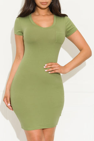 Rule Breaker Mini Dress Kiwi Green