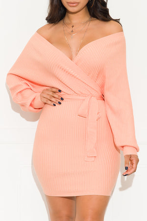 One Call Away Dress Peach