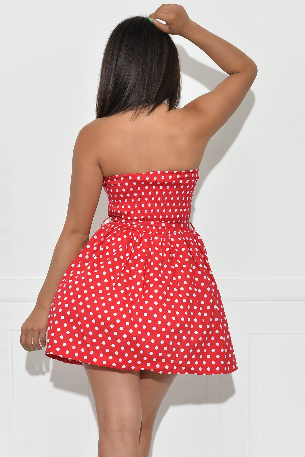 Leah Polka Dot Dress - Red