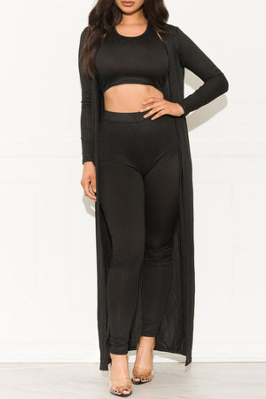 Main Attraction Three Piece Set Black
