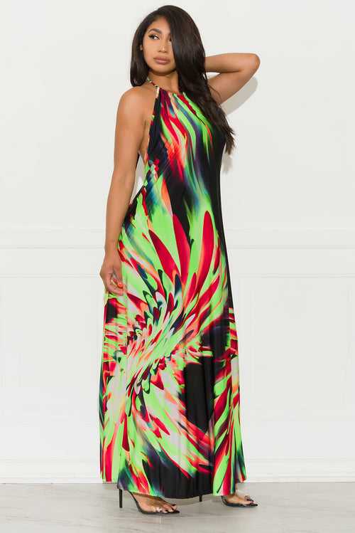 Isabelle Maxi Dress - Green