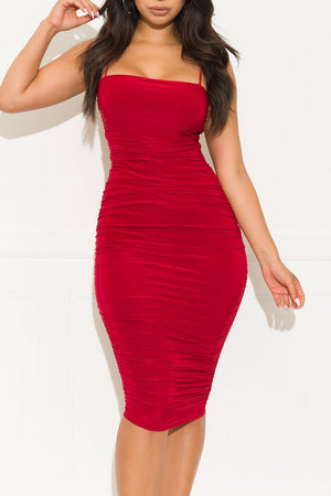 Let it Be Midi Dress Red