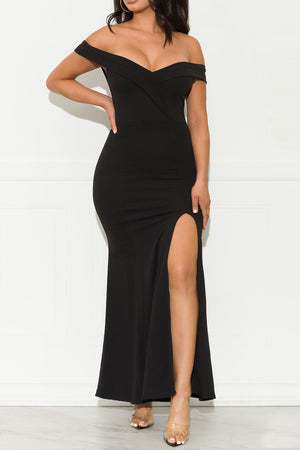 Not Chasing You Maxi Gown Dress Black