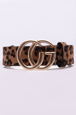 In Your Place Cheetah Print Belt