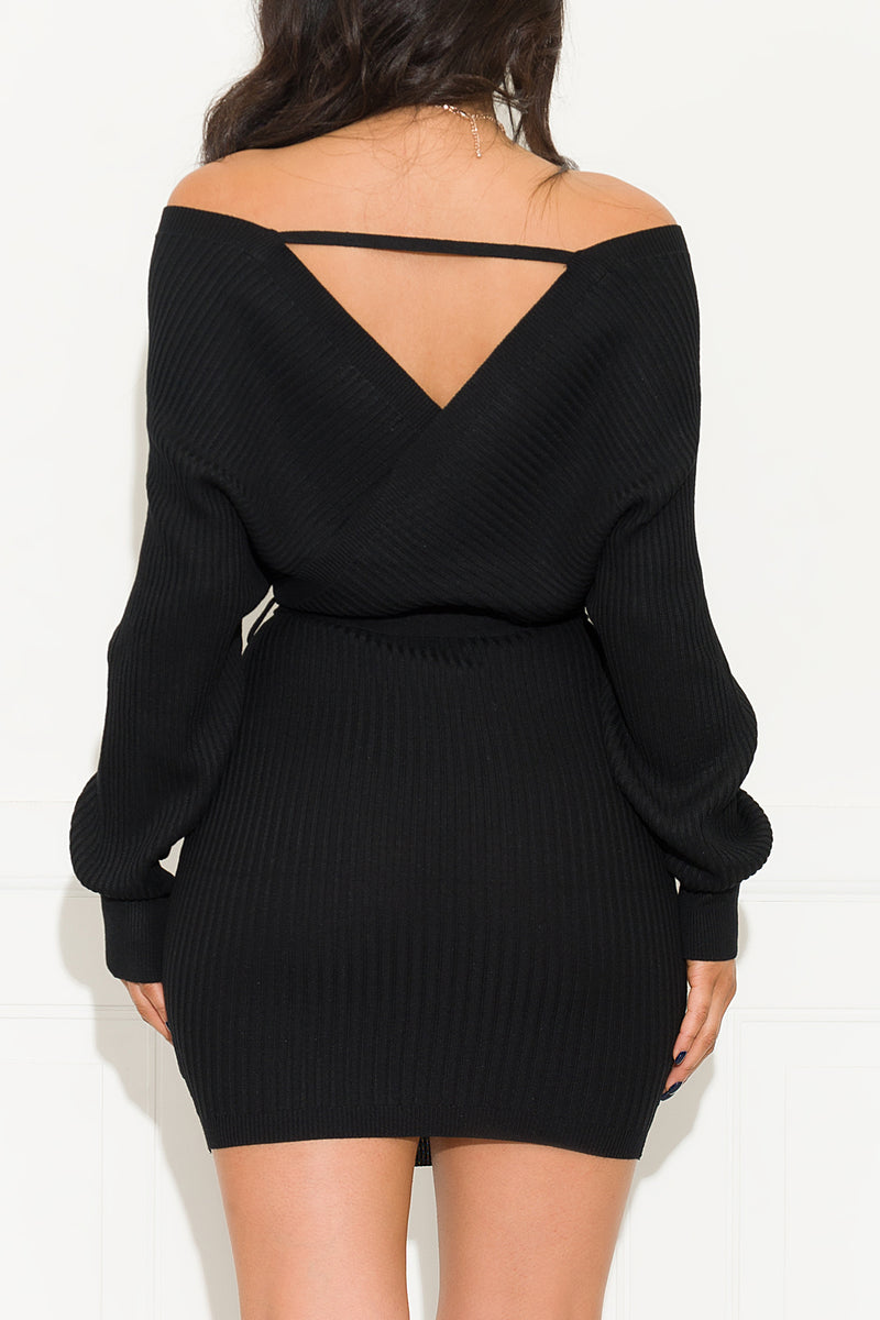 One Call Away Dress Black