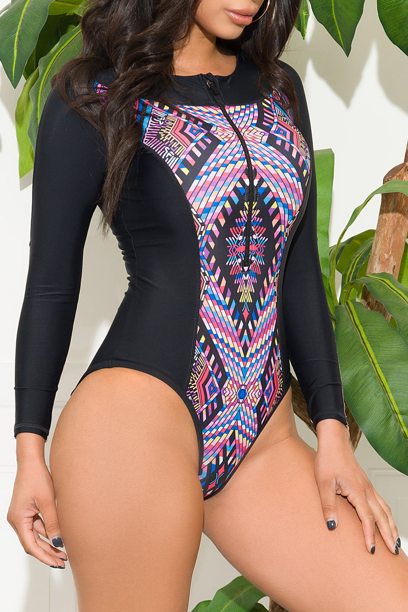 Ora Beach One Piece Rashguard Swimsuit