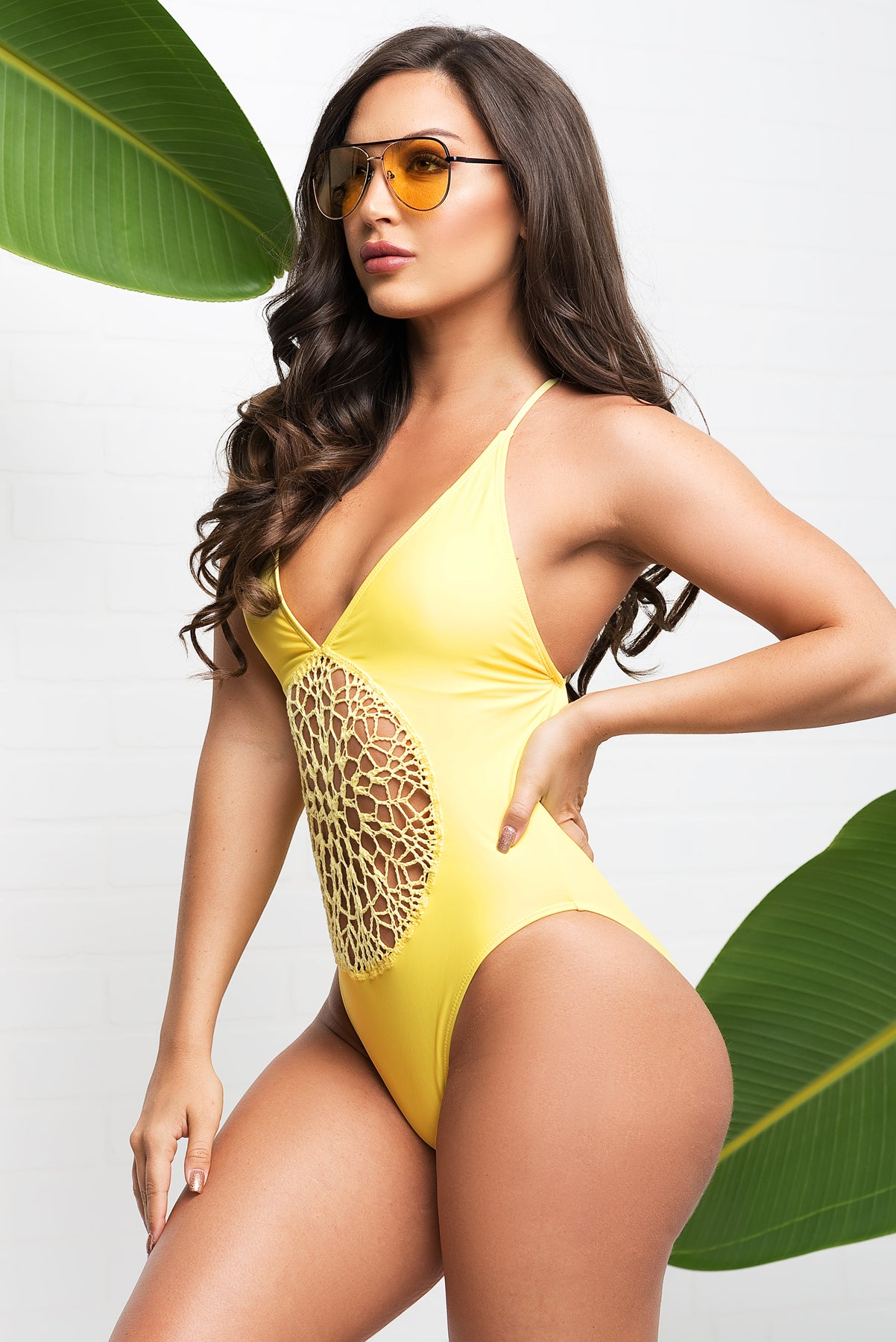 Savage Bay One Piece Swimsuit - Yellow