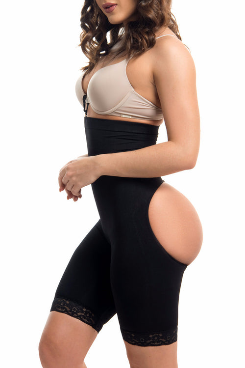 High Waisted Body Shaper & Butt Lifter BLACK -RESTOCKED - Fashion Effect Store  - 1