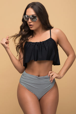 Corona del Mar Two Piece Swimsuit Black
