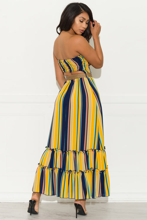 Cassidy Striped Maxi Dress