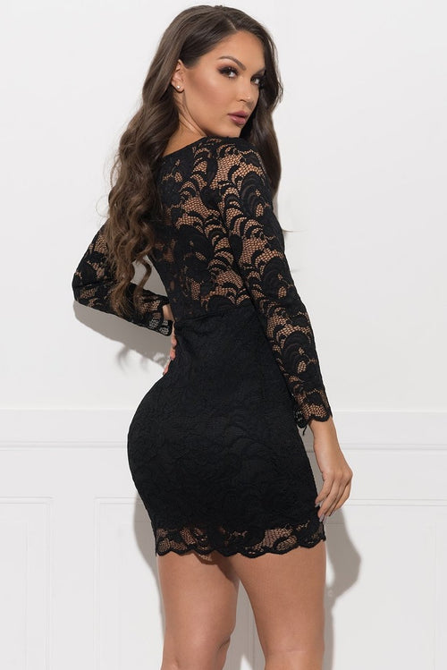 Francesca Lace Dress - Black