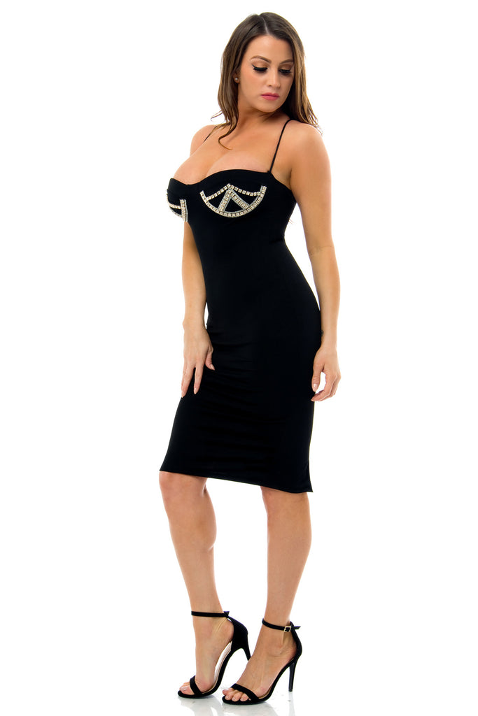 Fiorella Black Dress - Fashion Effect Store  - 3