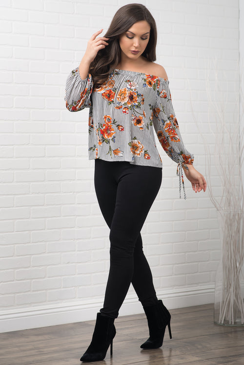 Zaya Floral Top - Yellow