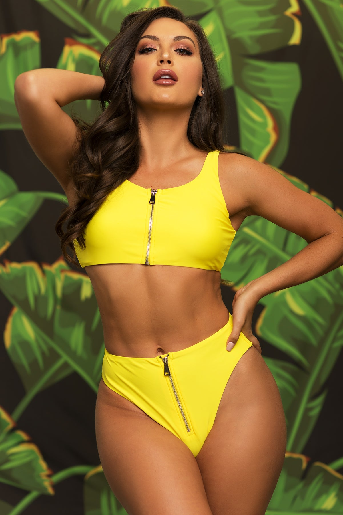 Flamenco Beach Two Piece Swimsuit - Yellow