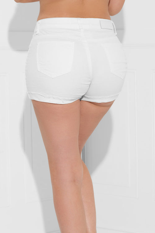 Kelly Denim Shorts Off White