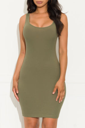 Day After Day Dress Military Green