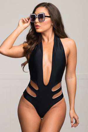 Natadola Beach One Piece Swimsuit  Black