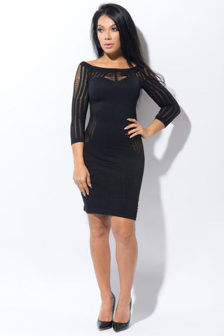 Carol Black Dress - Fashion Effect Store  - 1