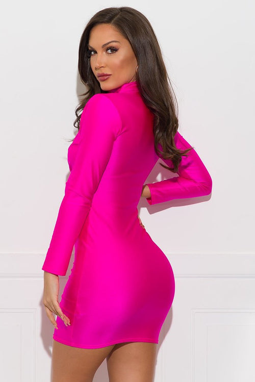 Madison Dress - Hot Pink
