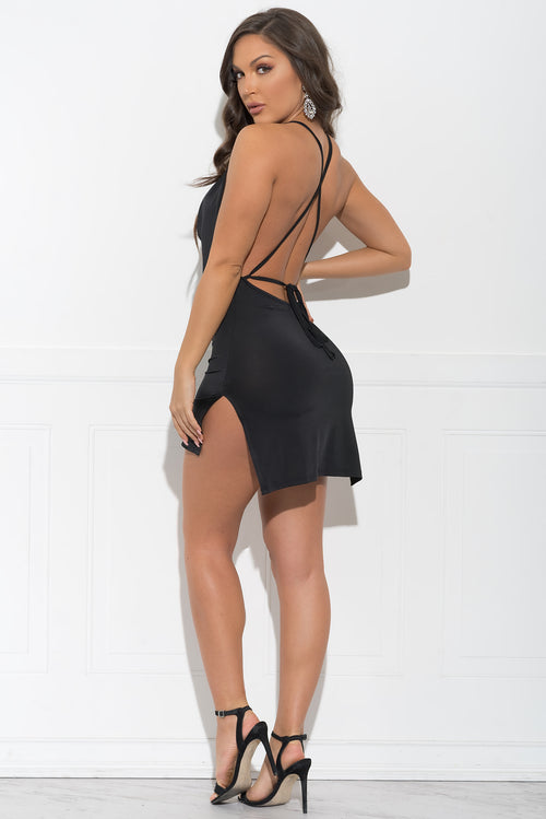 Helen Mini Dress - Black