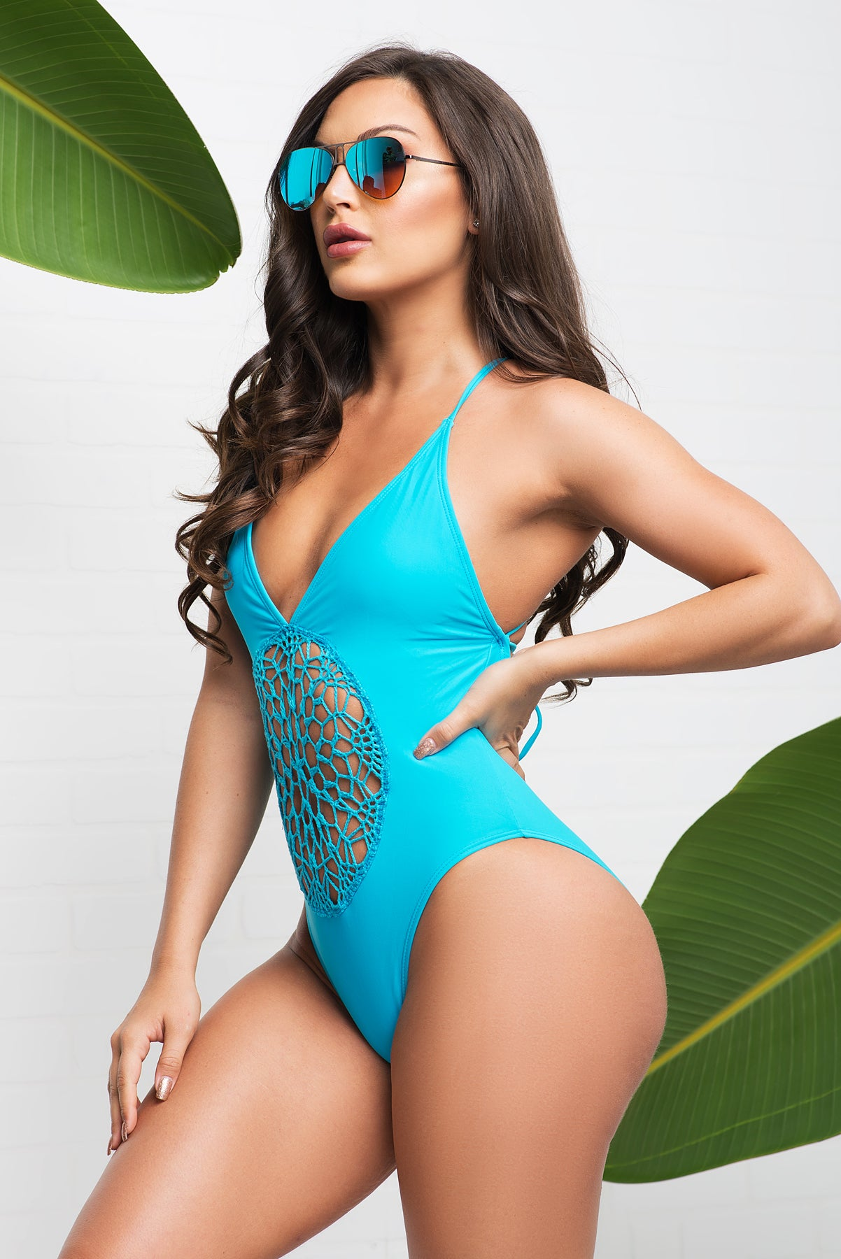 Savage Bay One Piece Swimsuit - Sky Blue