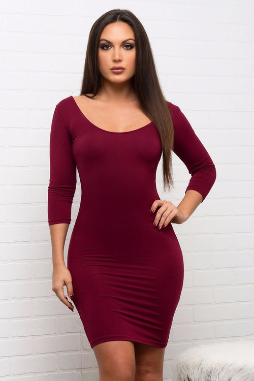 Serena Dress - Burgundy