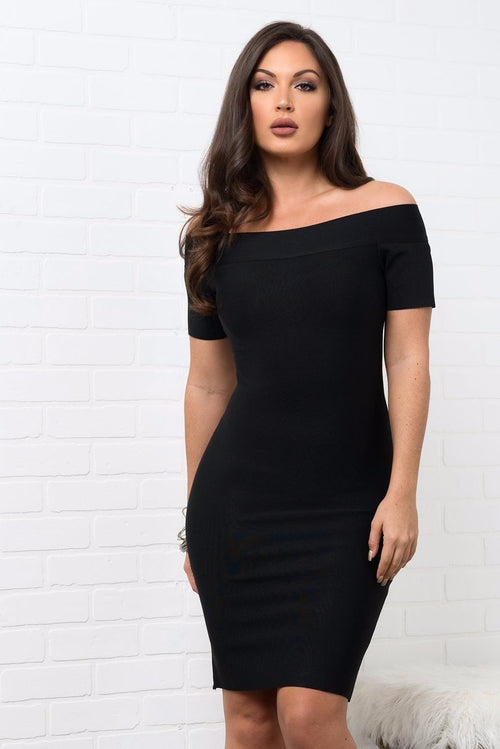 Wendy Bandage Dress - Black