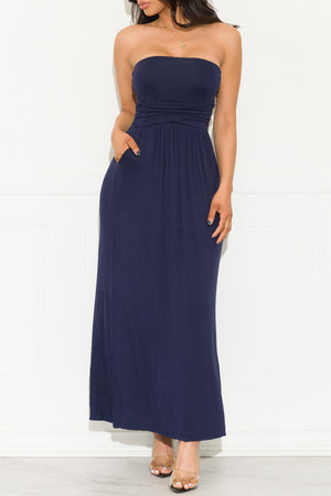 Here To Stay Maxi Dress Navy