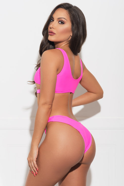 Mermaid Point Two Piece Swimsuit - Pink