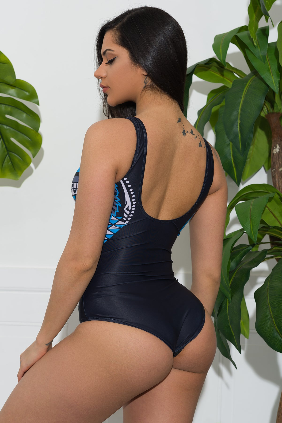 Moonlight One Piece Swimsuit- Blue