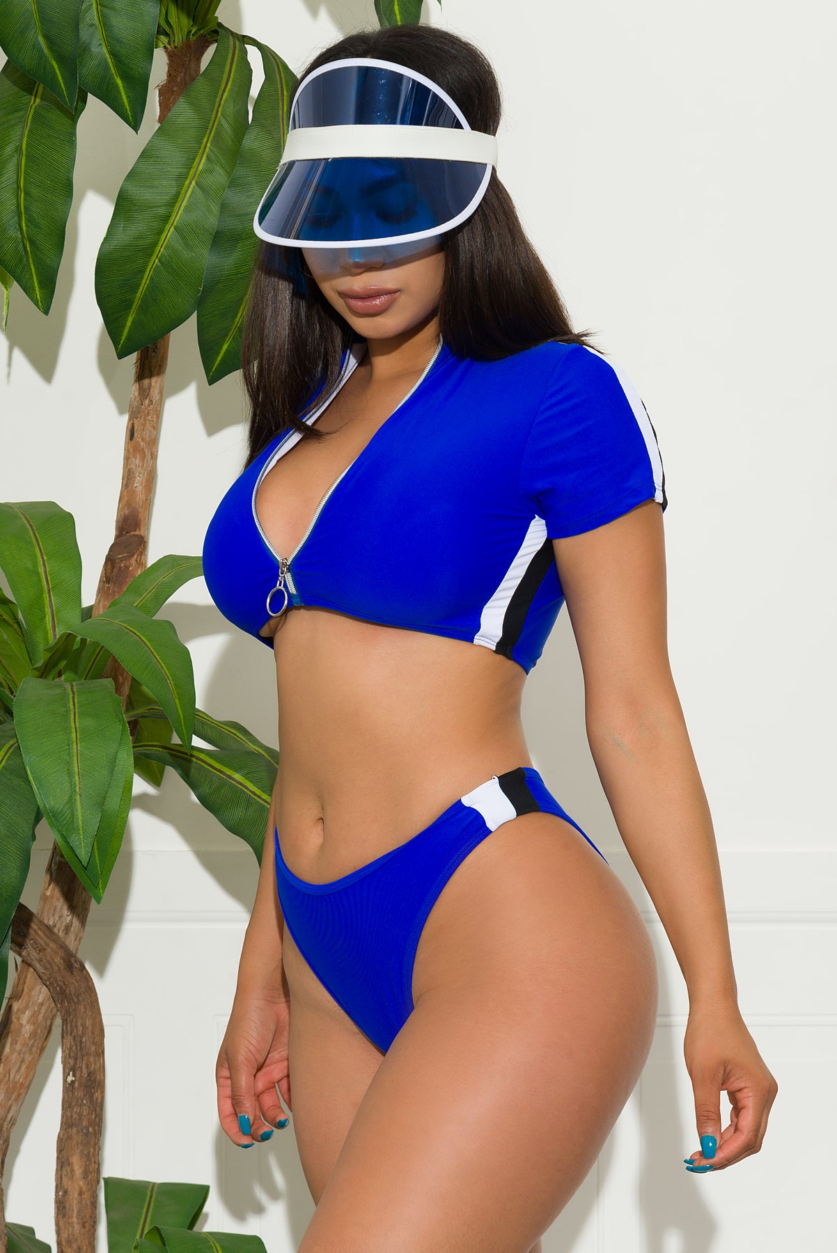 Miami Beach two piece swimsuit -Royal Blue